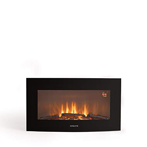 CREATE IKOHS ELECTRIC FIRE - Chimenea Eléctrica de pantalla curva (Electric fire - M 28')