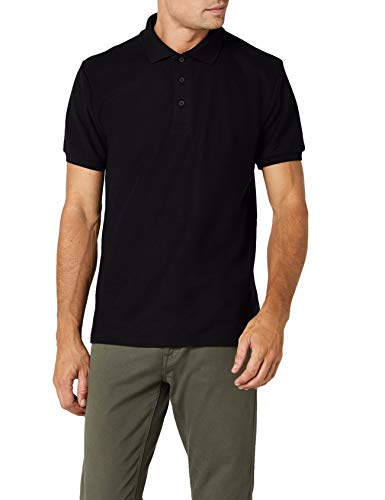Fruit of the Loom Ss033m, Polo para Hombre, Negro (Black), Large