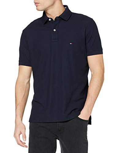 Tommy Hilfiger Core Hilfiger Regular Polo, Azul (Sky Captain 403), X-Large para Hombre