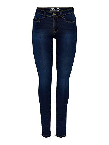 ONLY Onlultimate King Reg Jeans Cry200 Vaqueros, Dark Blue Denim, L / 34L para Mujer