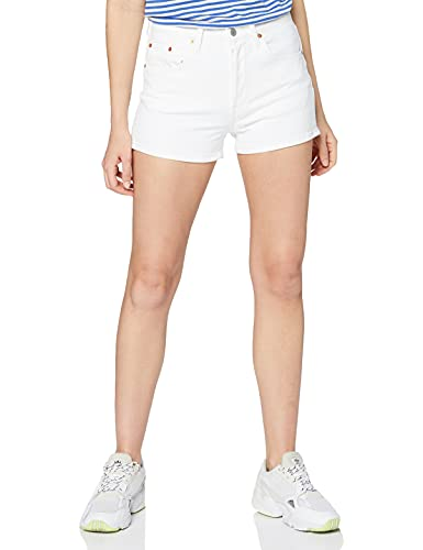 Levi's 501 High Rise Short Pantalones Cortos, In The Clouds, 28 para Mujer