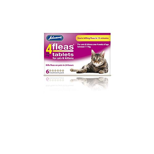 Johnsons 4Fleas Tablets for Cats and Kittens, 6 Treatment Pack