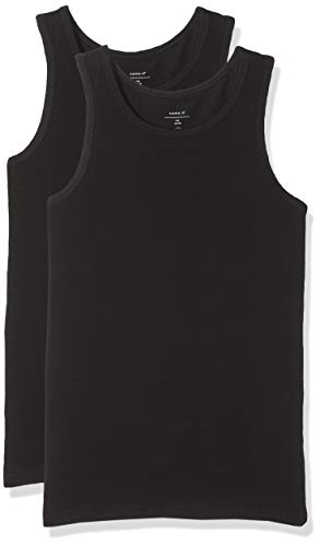 NAME IT Nkmtank Top 2p Noos Camiseta, Negro (Schwarz Black), 146 (Pack de 2) para Niños