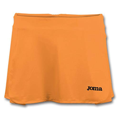 Joma SHT.S0M01 - Falda de tenis para mujer, color Naranja (Orange Fluor), talla Medium