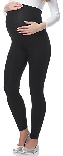 Be Mammy Leggins Premamá Largos Embarazo Lactancia 02(Negro, M)