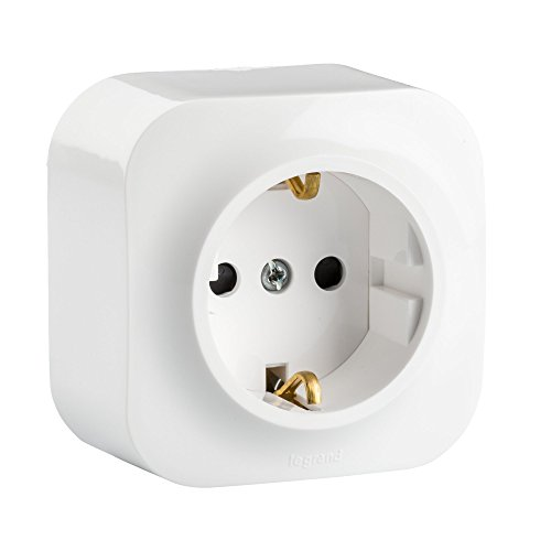 Legrand, Enchufe de Pared 1 Toma, Forix, Color Blanco