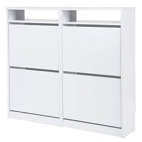 TOP KIT | Mueble Zapatero Tamesis 54AB - 107.5 x 96 x 25 | Blanco