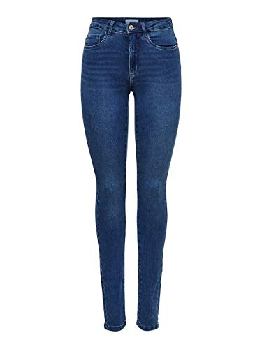 ONLY Onlroyal High Waist Skinny Jeans Vaqueros, Medium Blue Denim, 38W / 30L para Mujer