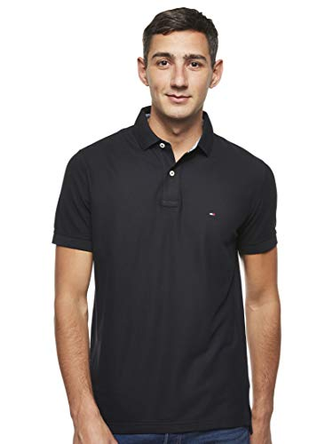 Tommy Hilfiger Core Hilfiger Regular Polo, Negro (Flag Black 060), XX-Large para Hombre