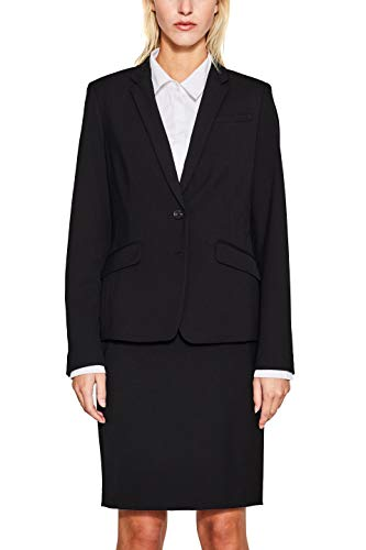 ESPRIT Collection 997eo1g804 Chaqueta de Traje, Negro (Black 001), 36 para Mujer