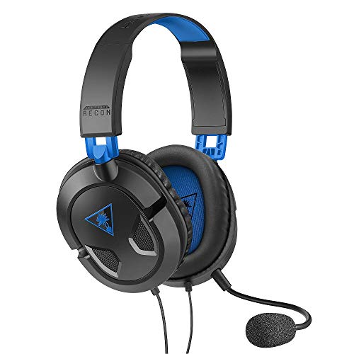 Turtle Beach Recon 50P Auriculares Gaming PS4, PS5, Xbox One, Nintendo Switch y PC, Negro / Azul