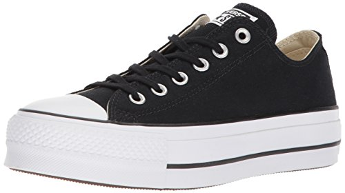 Converse Chuck Taylor CTAS Lift Ox Canvas, Zapatillas, Negro Black White White 001, 35 EU