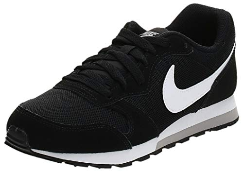 Nike MD Runner 2 (GS), Zapatillas de Correr Unisex Adulto, Negro (Black/Wolf Grey/White), 38 EU