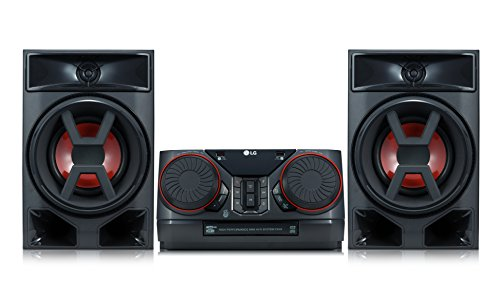 LG XBOOM CK43 - Equipo de Sonido de Alta Potencia (Potencia 300 W, Bluetooth, USB Dual, Entrada AUX, Radio FM, Reproductor CD, Auto DJ, Wireless Party Link, EZ File Search, TV Sound Sync) Color Negro
