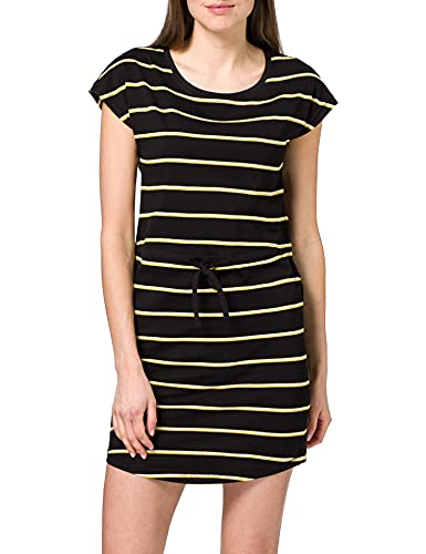 Only Onlmay S/s Dress Noos Vestido, Multicolor (Black Stripes: Double Yolk Yellow/Cl. Dancer), 42 (Talla del Fabricante: Large) para Mujer