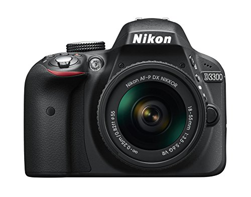 Nikon D3300 + 18-55 AFP DX VR - Cámara réflex digital de 24,2 Mp (pantalla LCD 3', estabilizador, vídeo Full HD), color negro - kit con objetivo 18-55MM AFP DX VR