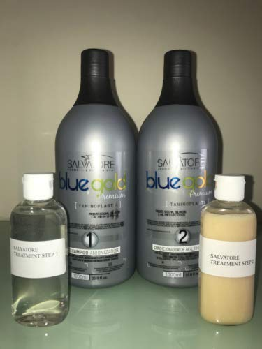 SALVATORE BLUE GOLD PREMIUM (2 X 100ML Champu y Queratina)