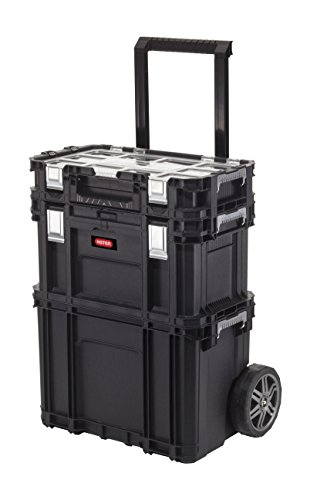 Keter 233506 Carro vertical Connect Rolling System, Negro, 54.5x35.3x68 cm
