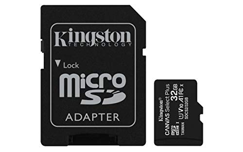 Kingston Canvas Select Plus Tarjeta microSD, SDCS2/32GB Class 10 con Adaptador SD