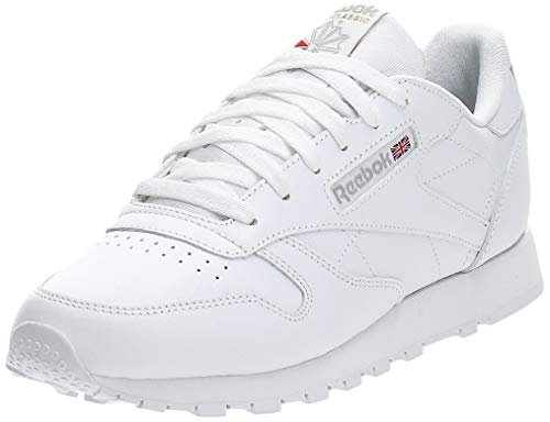 Reebok Classic Leather Zapatillas, Mujer, Blanco, 38.5 EU / 5.5 UK / 8 US