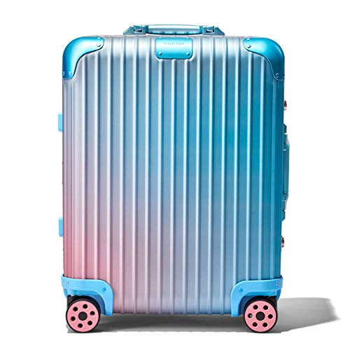 RIMOWA X ALEX ISRAEL ORIGINAL CABIN PLUS MULTIWHEEL SUITECASE BLUE/PINK LIMITED EDITION