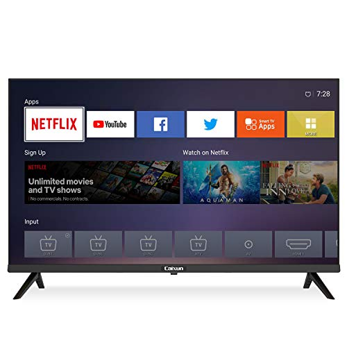 Caixun EC32S2N, 2020 LED HD Smart TV 32 Pulgadas, WiFi, Netflix, Prime Video,Youtube, Facebook, HD Television, Sintonizador Triple, HDMI