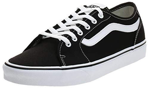 VANS Filmore Decon, Zapatillas Hombre, Negro Canvas Black/White 187, 45 EU
