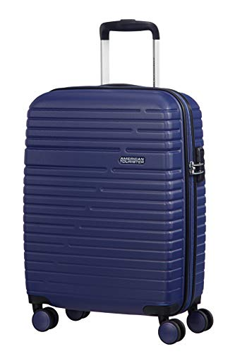 American Tourister Aero Racer Spinner 55 - 2,5 Kg Equipaje de mano, 37 liters, Azul (Nocturne Blue)