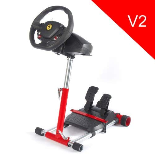 Wheel Stand Pro for Thrustmaster T80 /T100 /F458 /F430 /RGT wheels - V2 ROSSO