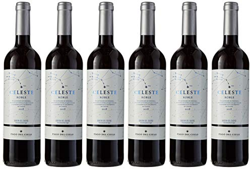 Pago del Cielo Celeste Roble, Vino Tinto - 6 botellas de 750 ml, Total: 4500 ml