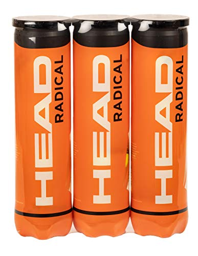 HEAD Radical - Pelota de tenis, color amarillo (Paquete triple)