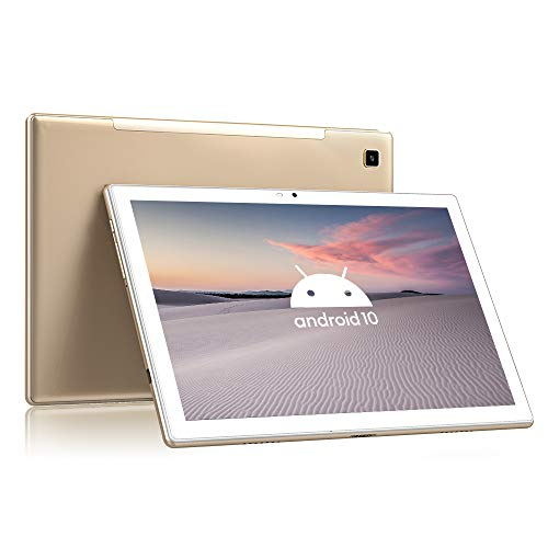 Tablet 10.1 Pulgadas 4G LTE+5G WiFi Android 10 Blackview Tab8, 4GB RAM+64GB ROM (TF 128GB), Octa-Core, Batería 6580mAh, Tableta con Cámara 13MP+5MP, 1920*1200, Dual SIM/Face ID/GPS/OTG/Bluetooth-Oro