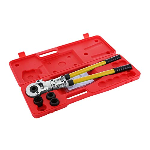 Homeway Alicates Prensadores de Tuberías TH Contour 16mm 20mm 25mm 32mm Alicates de Presión para Tubos Compuestos PEX PE-X Crimping Tool con Calibradores y Resortes de Flexión