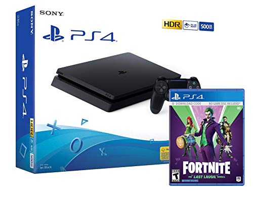 PS4 Slim 500Gb Negra Playstation 4 Consola + Fortnite Lote Ultima Risa