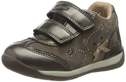 GEOX B EACH GIRL A SMOKE GREY Baby Girls' First Walking Shoes Sneaker size 26(EU)