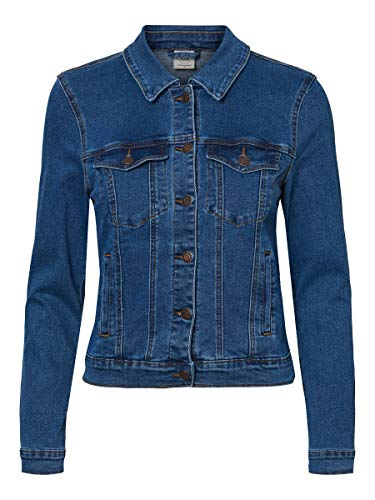 Vero Moda Vmhot SOYA LS Jacket Mix Noos Chaqueta, Azul (Medium Blue Denim Medium Blue Denim), 44 (Talla del Fabricante: X-Large) para Mujer