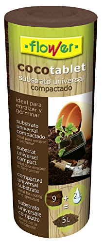Flower 80129 80129-Substrato Tablet supercompactado, 4.5 l, No Aplica, 6.8x6.8x20.8 cm