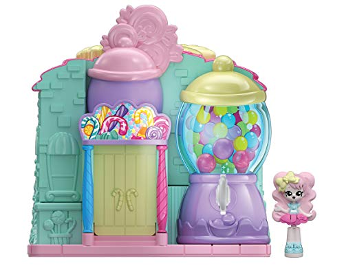Shopkins HPL14100 Lil 'Secrets Keypers Pocket Playset-Sweet Retreat Candy Shop, Nylon/A , color/modelo surtido