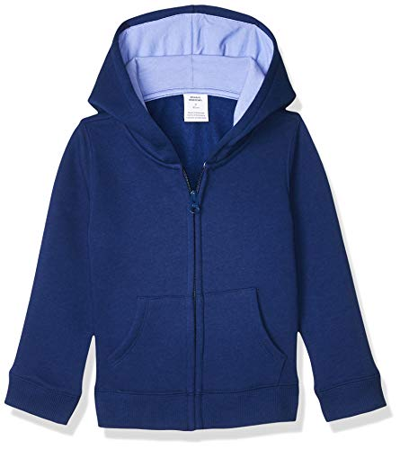 Amazon Essentials Fleece Zip-up Hoodie, fashion-hoodies Niñas, Azul oscuro, L (Talla fabricante: 10 Jahre)