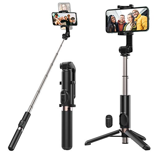 Yoozon Palo Selfie Trípode Bluetooth 3 en 1, Trípode para Movil Selfie Stick 1.2m Extensible para Selfie, Video, transmisión en Vivo, Youtube, Twitter, Tictok con iPhone,Samsung,Huawei,Xiaomi etc