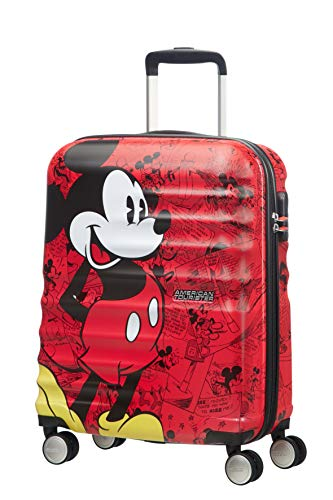 American Tourister Disney Wavebreaker - Maleta Infantil, Spinner S (55 cm - 36 L), Multicolor (Mickey Comics Red)