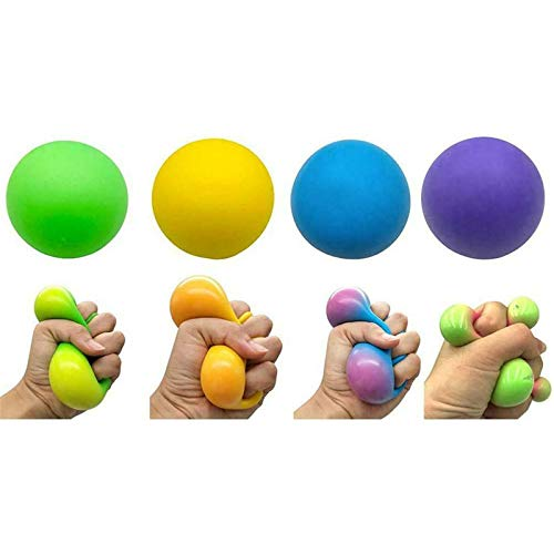 Squishy Squeeze Stress Ball Anxiety Autism Fidget Toy Sensory Relief Toy, DNA Squish Stress Balls, Fidget Toys Stress Balls,Stress Reliever Toy,Ideal for Autism, ADHD, OCD and Bad Habits