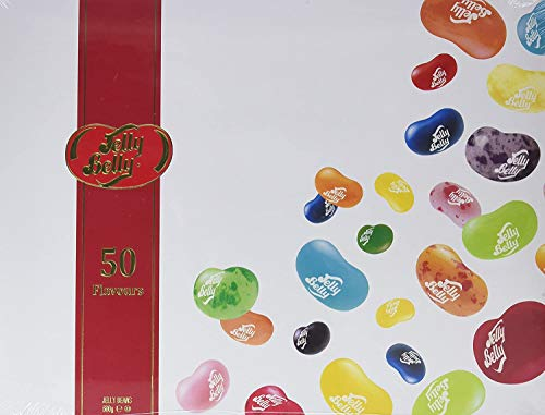 Jelly Belly Pack Regalo 50 Sabores Oficiales, Blue-Raspberry, 600 Gramos