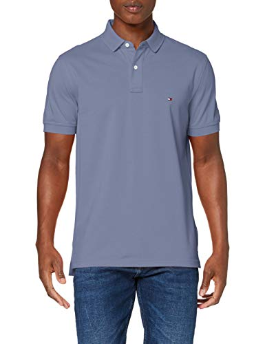 Tommy Hilfiger Hombre Tommy Regular Polo Polo Not Applicable, Azul (Faded Indigo C9t), Medium