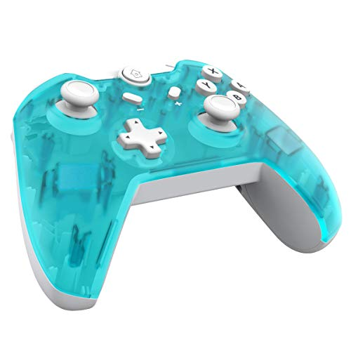 JFUNE Mando Inalámbrico para Nintendo Switch, Pro Controlador Wireless Switch Gamepad, 6-Axis Gyro Dual Motor Switch Controller- Nueva versión 2019 (Verde)