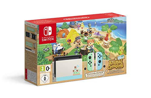 Nintendo Switch HW - Consola Edición Animal Crossing - Verde/Azul