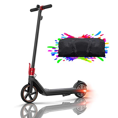Patinete Eléctrico Plegable Patinetes Electricos 15km, Neumáticos sólidos de 8', Super Light 8.9Kg Scooter Electrico para Niños, Adolescentes y los Adultos, con Bolsa de Patinete, Kirin Mini 2