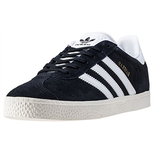 adidas Gazelle, Zapatillas Unisex Niños, Negro (Core Black/Ftwr White/Gold Metallic), 35 EU