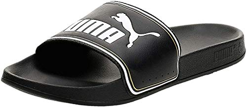 Puma - Leadcat FTR, Zapatos de Playa y Piscina Unisex Adulto, Negro (Puma Black-Puma Team Gold-Puma White 01), 39 EU