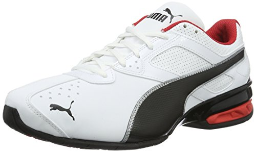 PUMA Tazon 6 FM, Zapatillas de Cross Hombre, Blanco (White/Black Silver), 39 EU